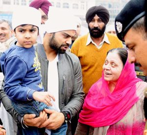 Kohli at the Golden Temple with family