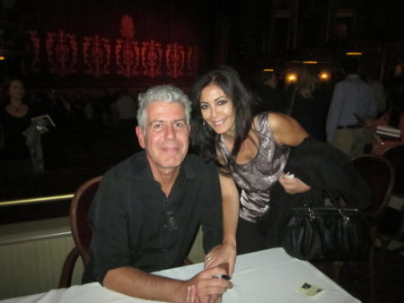 Nancy Putkoski and Anthony Bourdain