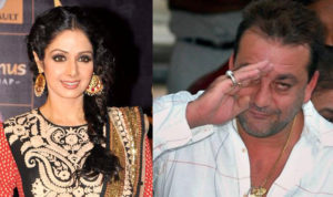 Sridevi and Sanjay Dutt image