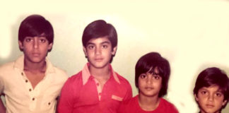 Salman with his brothers an