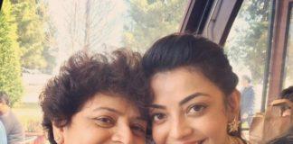 Kajal Aggarwal with mom